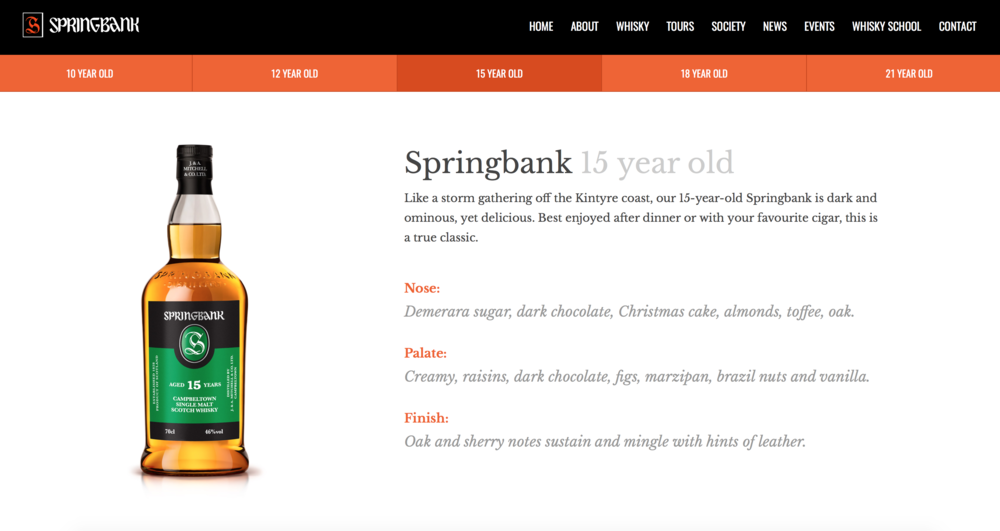 screenshot of Springbank's official tasting notes from:http://www.springbankwhisky.com/whisky/springbank/15-years/