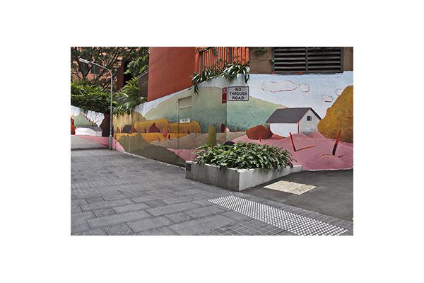 Public art, Nithsdale Ln, Sydney Australia.