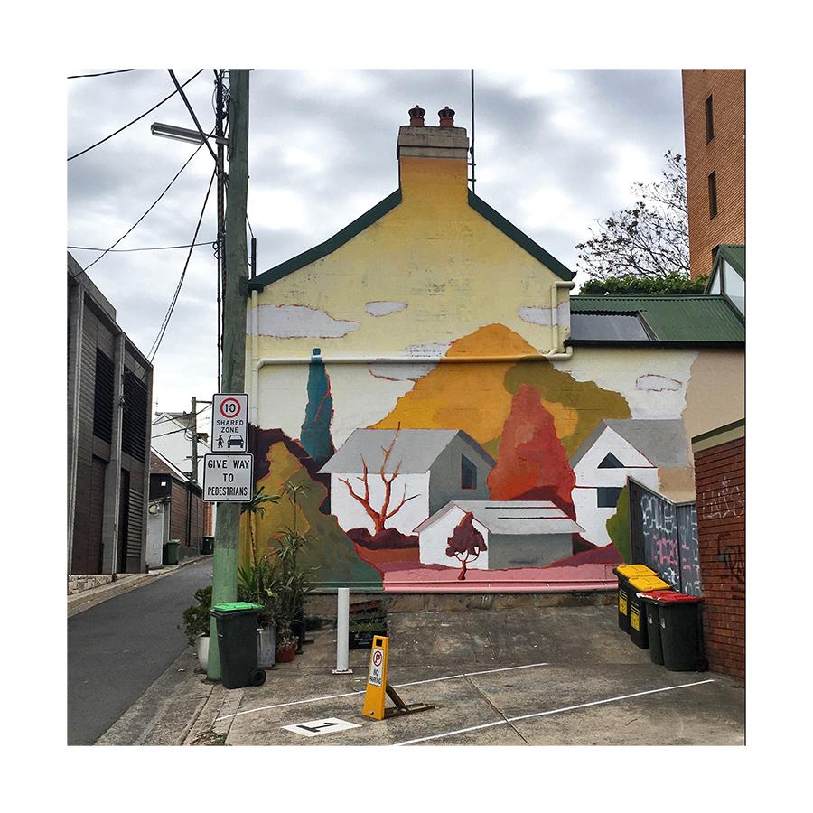 Public Art, Wells St, Sydney Australia