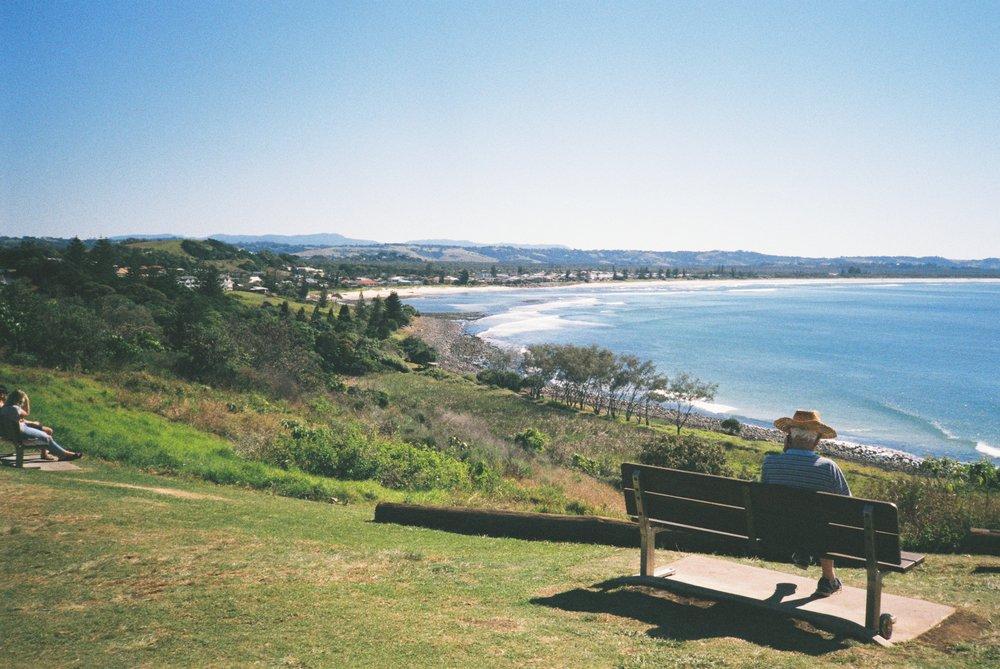 Roaming coastal surf town's
