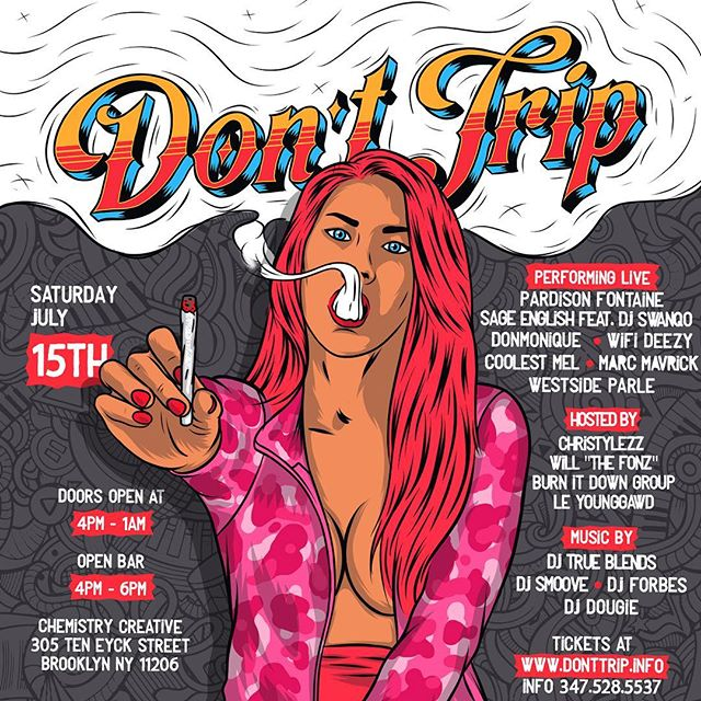 I'll be hosting Don't Trip this year!!!! See y'all on Saturday 🔥🔥🔥