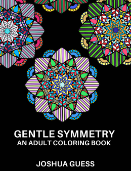 Gentle Symmetry, my first coloring book, is available on Amazon for $6.99