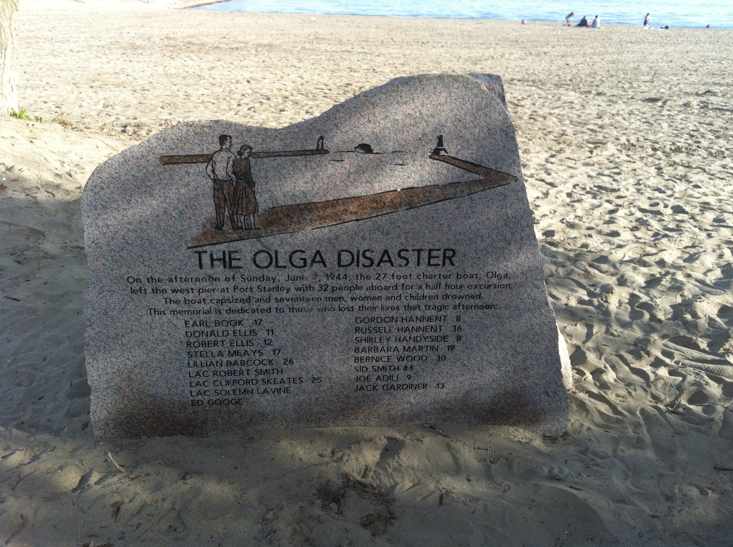 A memorial to The Olga Disaster.