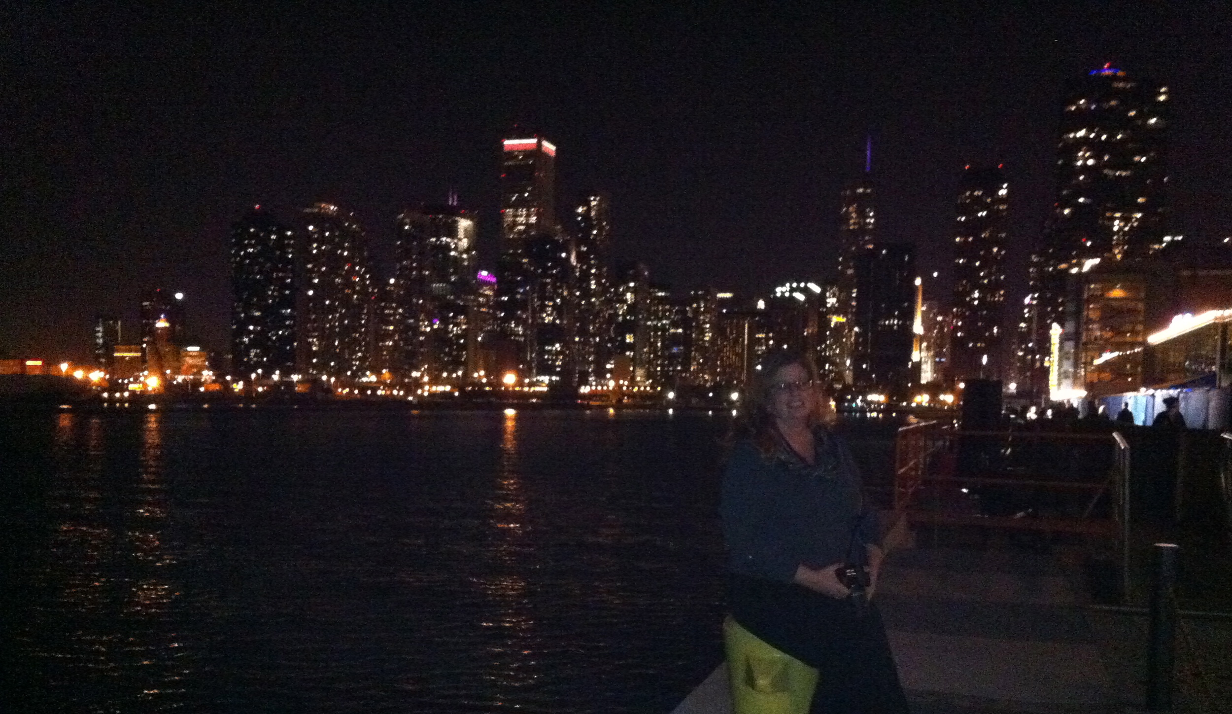 My very good friend Carolyn is a beautiful addition to the Chicago skyline.