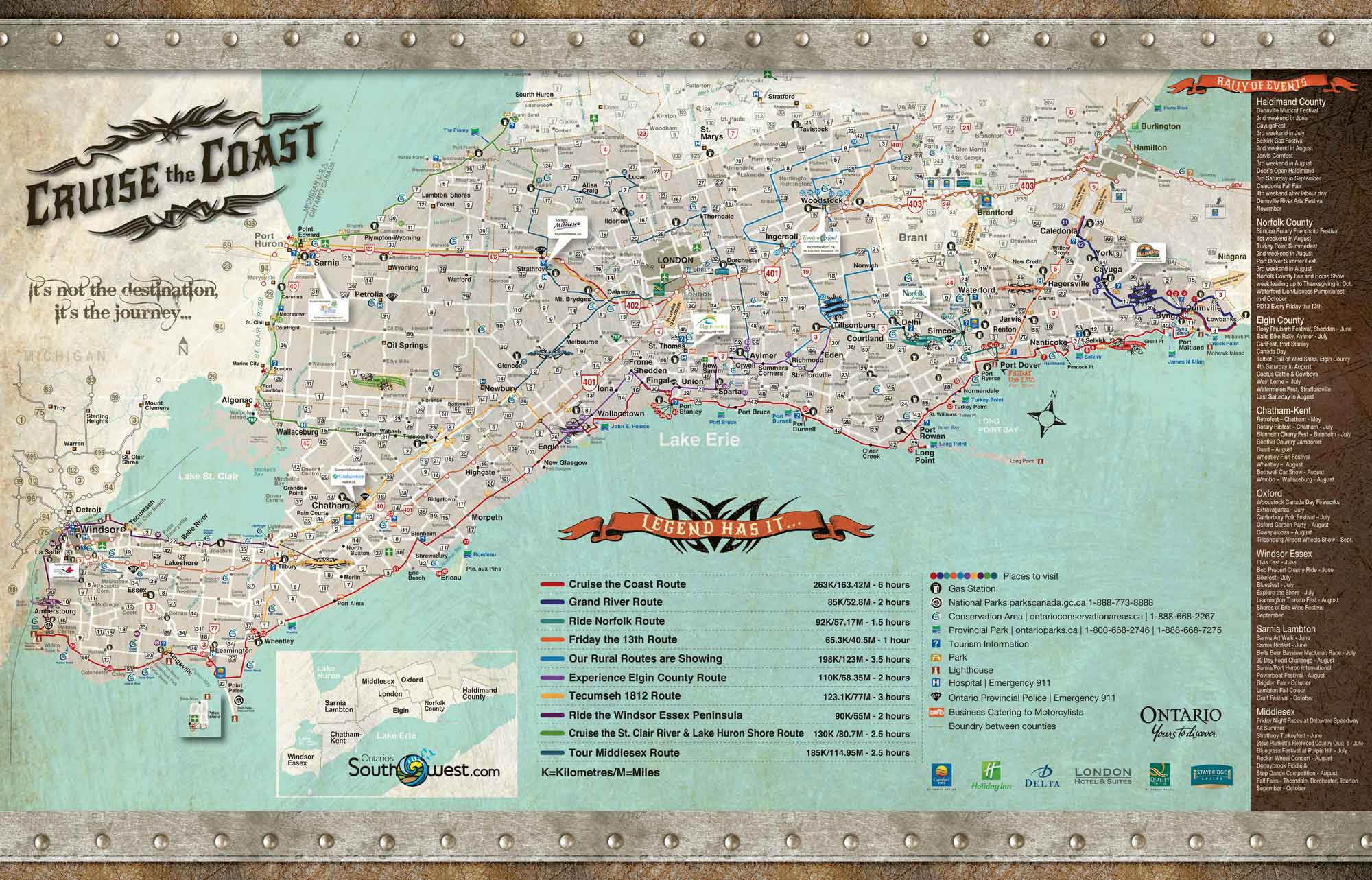 Cruise The Coast Map