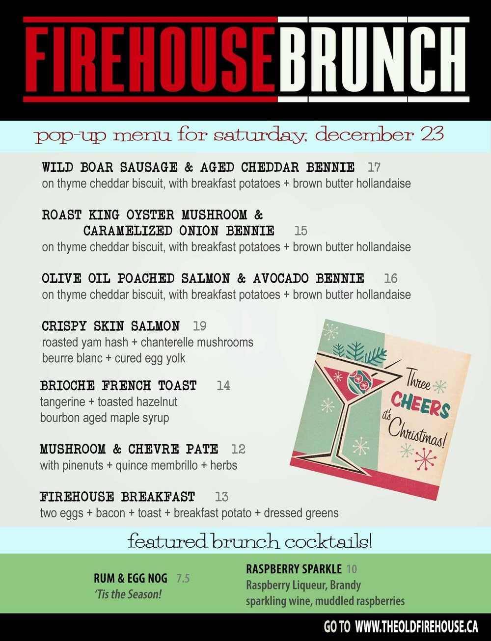 Pop Up Brunch this Saturday at The Old Firehouse Wine & Cocktail Bar, Downtown Duncan.  11am - 2pm.