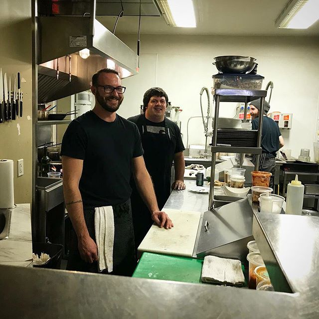 @duncancowichan Chamber of Commerce also found Chris and AJ hanging in the kitchen.  #winebar #cowichanvalley #downtownduncan #cocktailbar #cocktailhour #kitchengoals #vancouverisland #backofthehouse #whathappensinthekitchen #duncancitysquare #cheflife #scratchkitchen