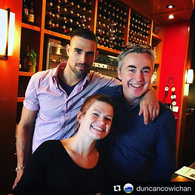 Thanks to @duncancowichan Chamber of Commerce for this great shot. We love having them drop in.  #winebar #bartenders #craftcocktails #cocktailbar #cocktailtime #cocktailart #cowichanvalley #downtownduncan #duncancitysquare #mixology #mixologist #mixologyart #instadropin #serverslife