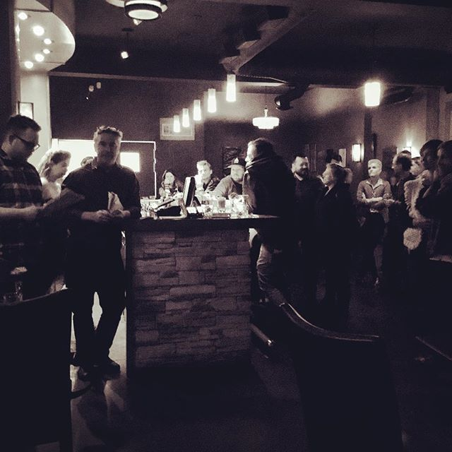 Beauty photo of the moments before the winner of the cocktail competition is announced.  #craftcocktails #toomuchsuspense #coolambiance #cocktailbar #cocktailart #cocktailporn #cocktailtime #mixology #mixologist #cowichanvalley #downtownduncan #duncancitysquare #bartenderstyle #cocktailartists #craftdistillery #stillheaddistillery #cocktailcompetition #bartenderstyle #bartendermagic #spiritscience #drinksofinstagram #barman #jeffsfancyshirt #bartenderlove #industrynight #alchemy 📷 @marzzo17