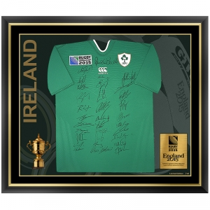 Ireland Team Signed Rugby World Cup 2015 Home Replica Jersey generated the most sales on the site.