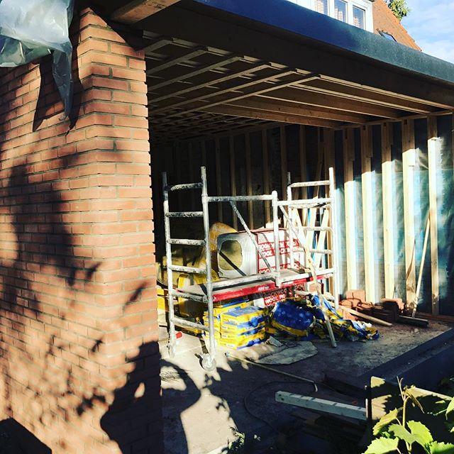 Uitbouw metselwerken #uitbouw #metselwerken #uitbouw #ambacht #renovatie #bouwmeestersamsterdam
