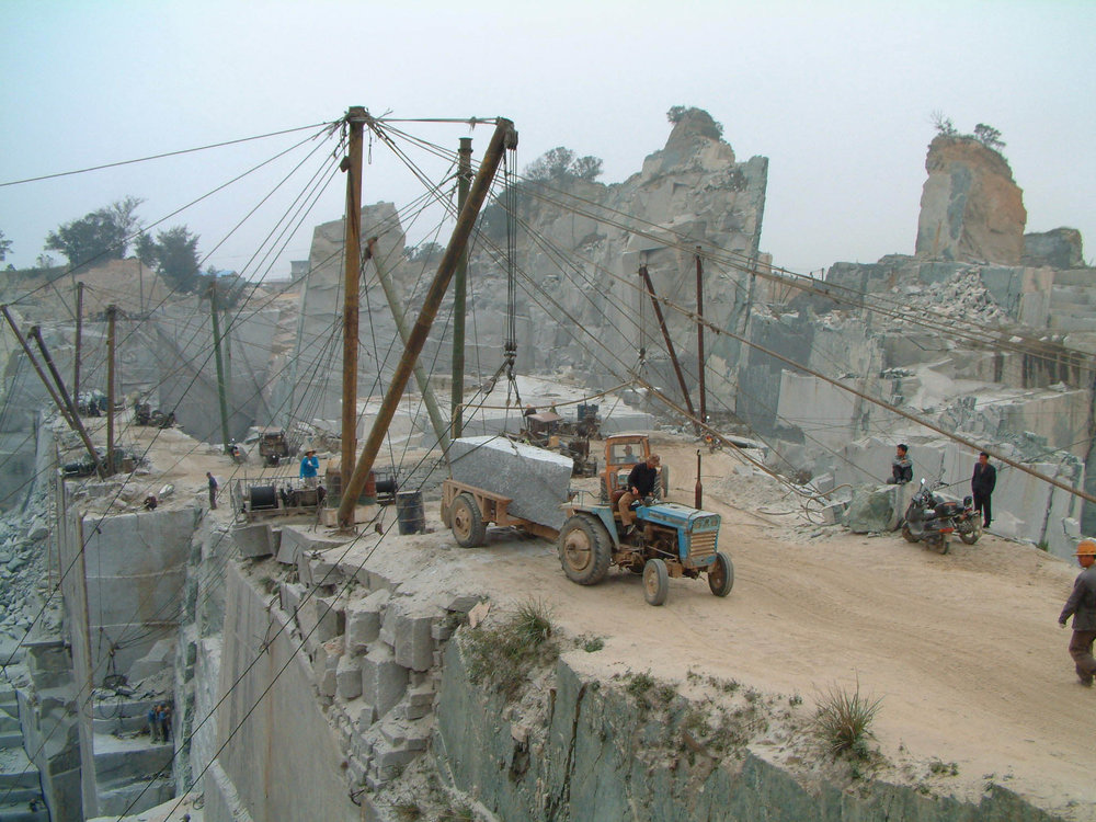 Granite quarry in Xiamen