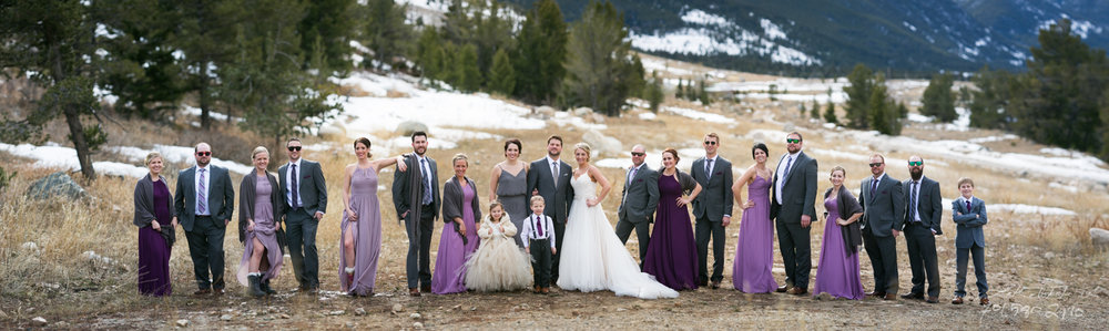 Wedding Party Formals at Rock Creek Resort, in Red Lodge, MT.