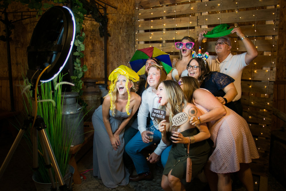 Look how much fun this wedding party is having!