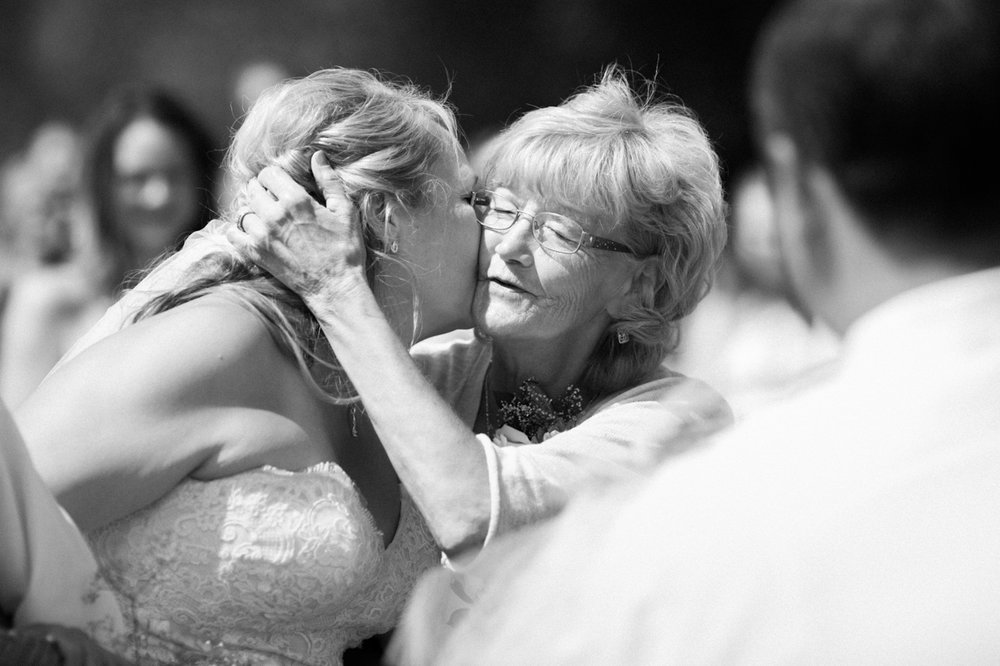 Wedding day love for mom