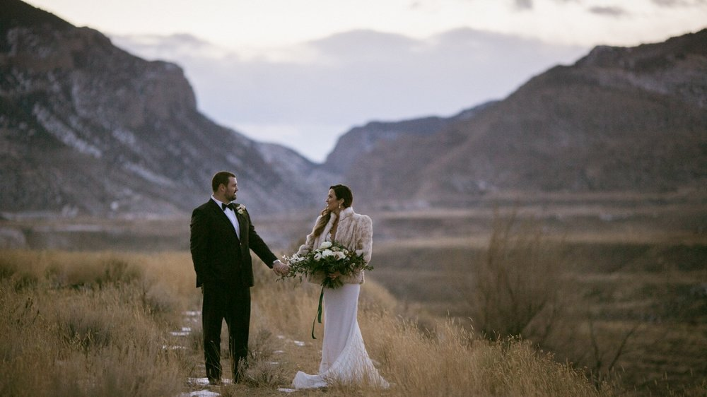After the wedding we took a few moments to enjoy the beautiful landscape of Wyoming.