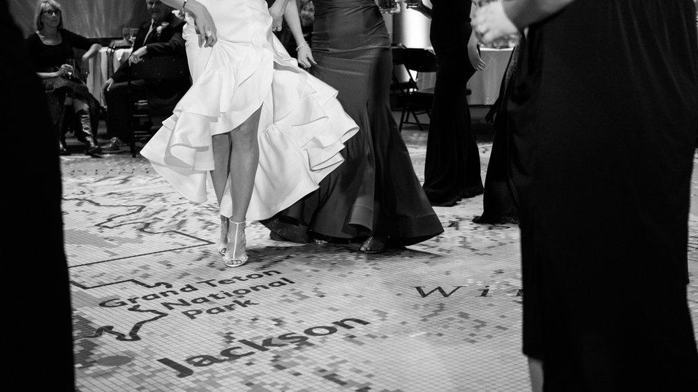 Bride dance detail in Cody, Wy wedding.