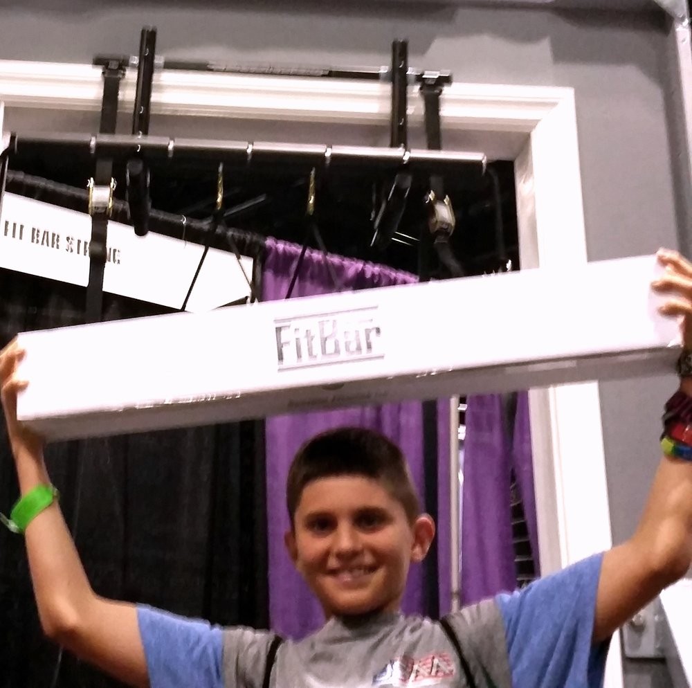 child with FitBar