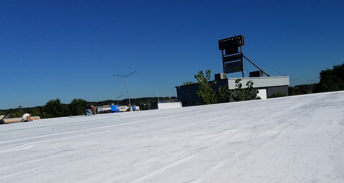 snow on flat roofs blog posts of liberty roofing liberty commercial flat roof