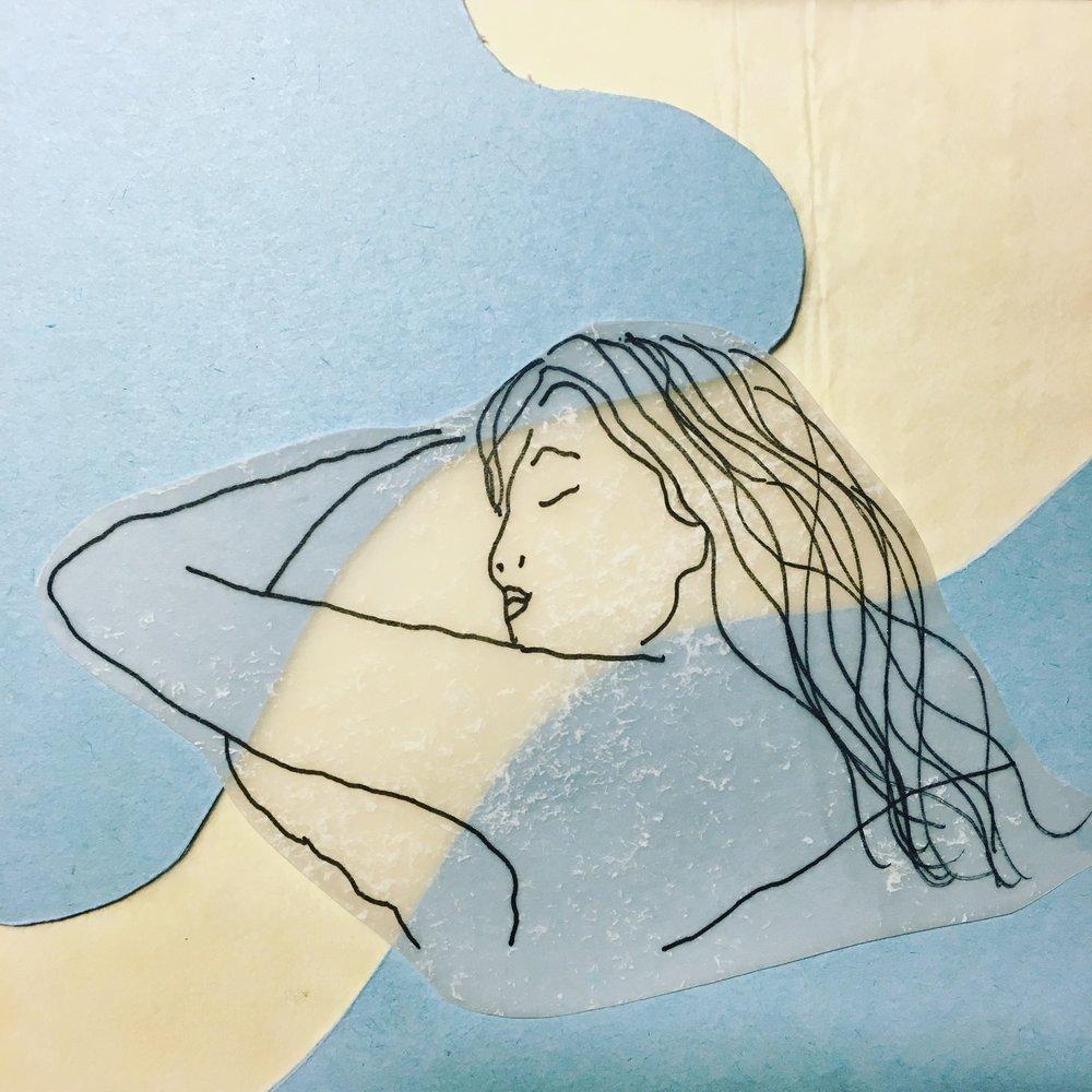 In thin blue air