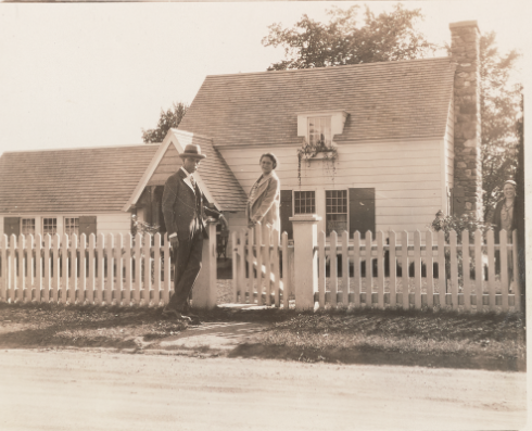 James Weldon Johnson and Grace Nail Johnson at their summer home, Five Acres.