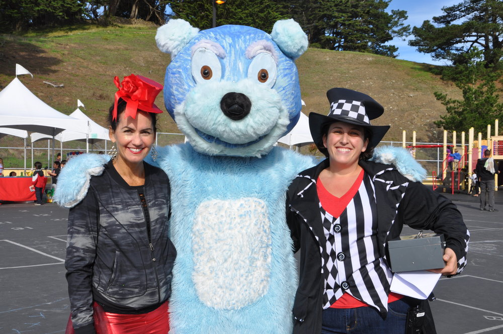 Laine and Stephanie with Joe Bear
