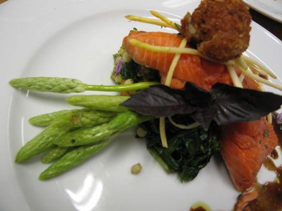 Wild King Salmon w French Asparagus (working)