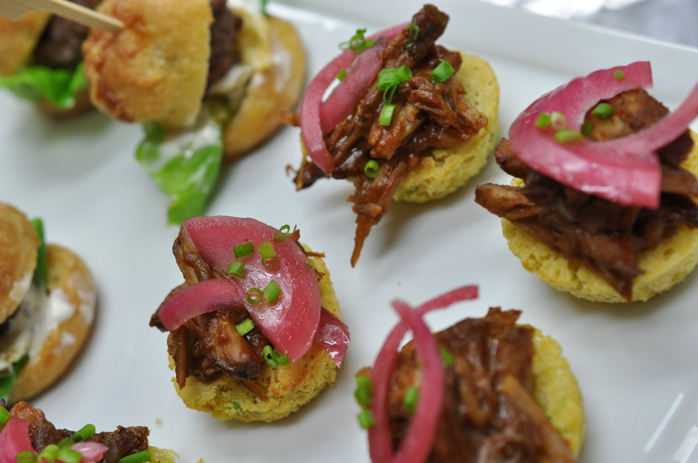 Pulled Pork & Corn Cakes