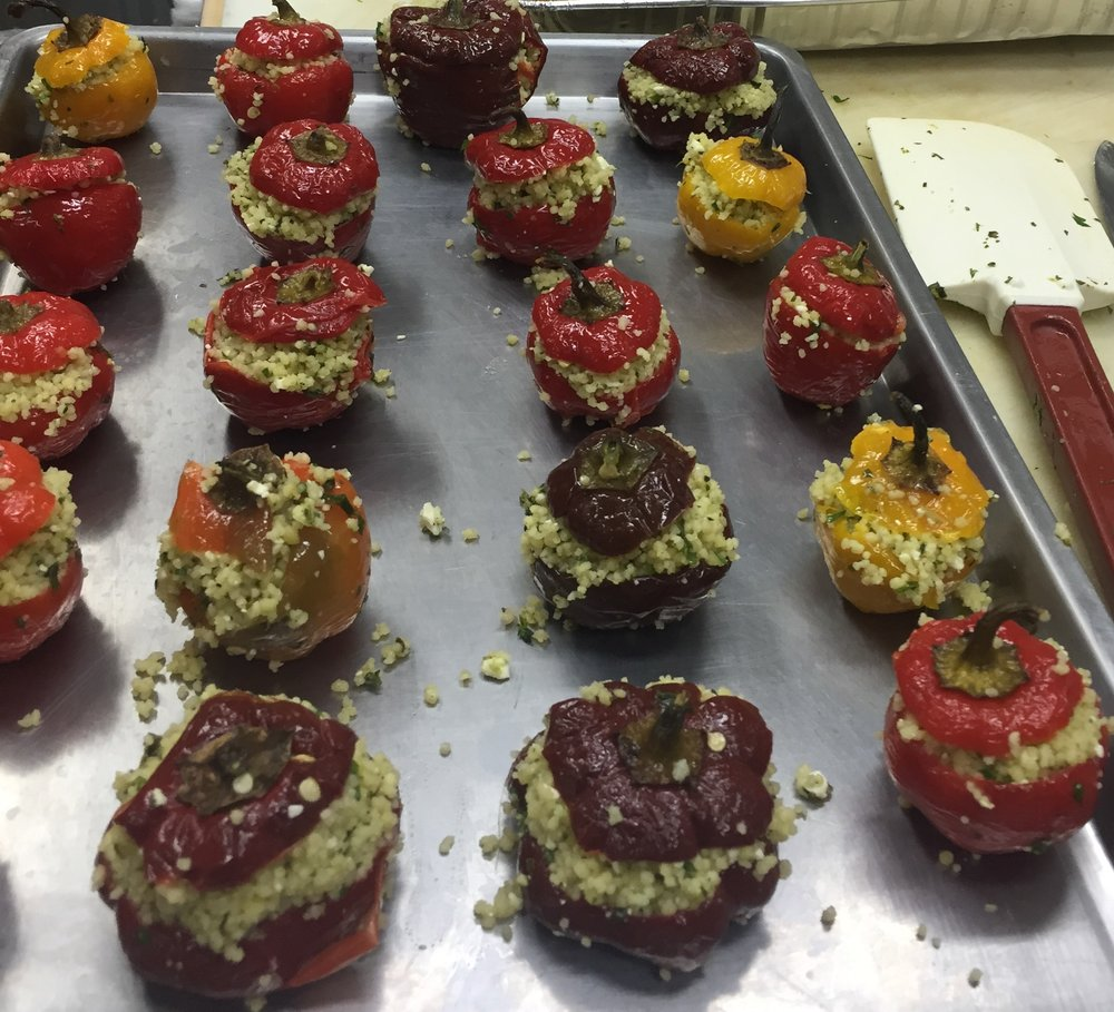 Basil Couscous-stuffed Jewel Peppers