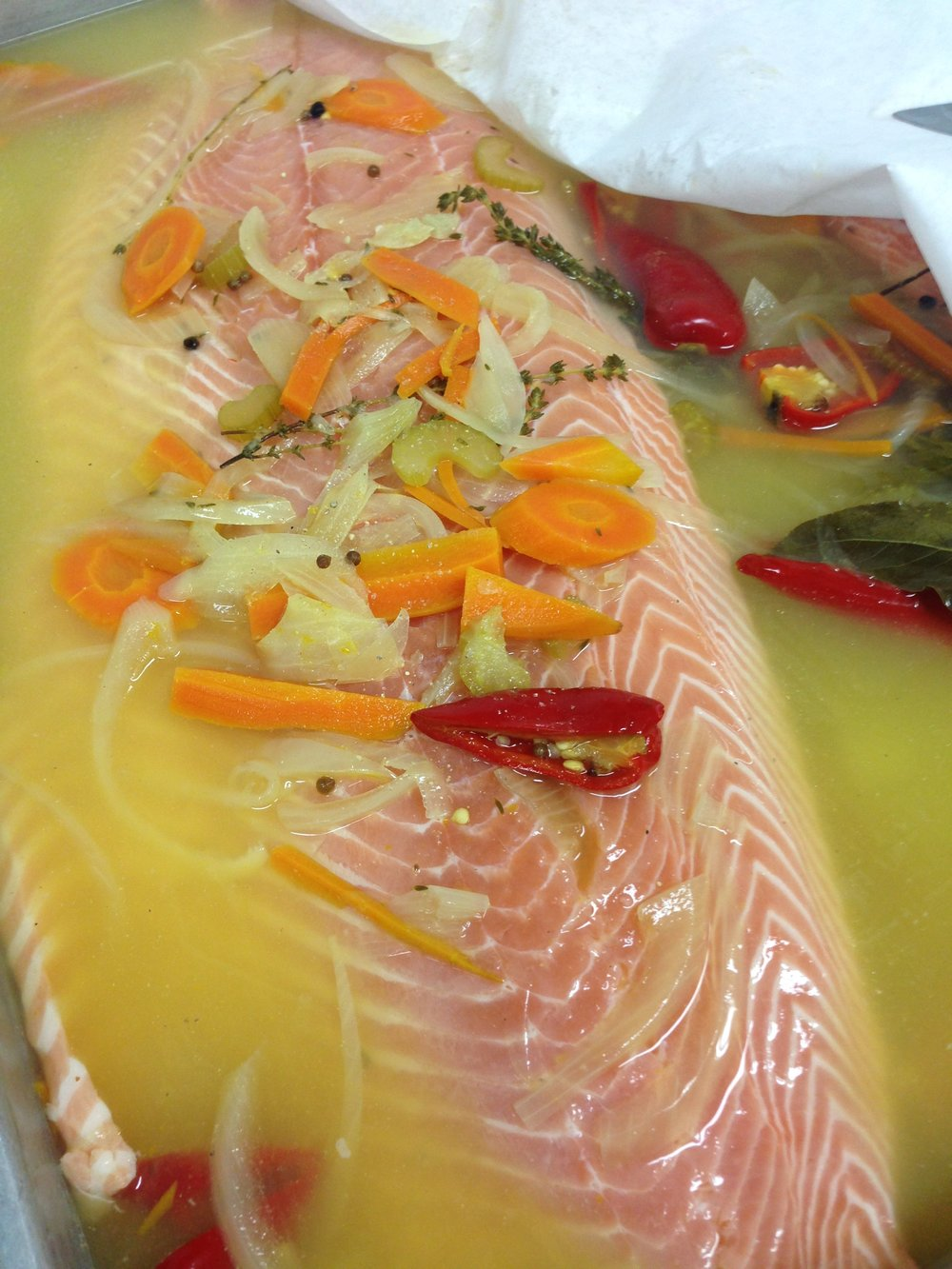 Gentle Poaching of Salmon