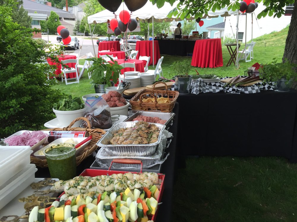 Chef's Table for Grilling ~ Graduation Party