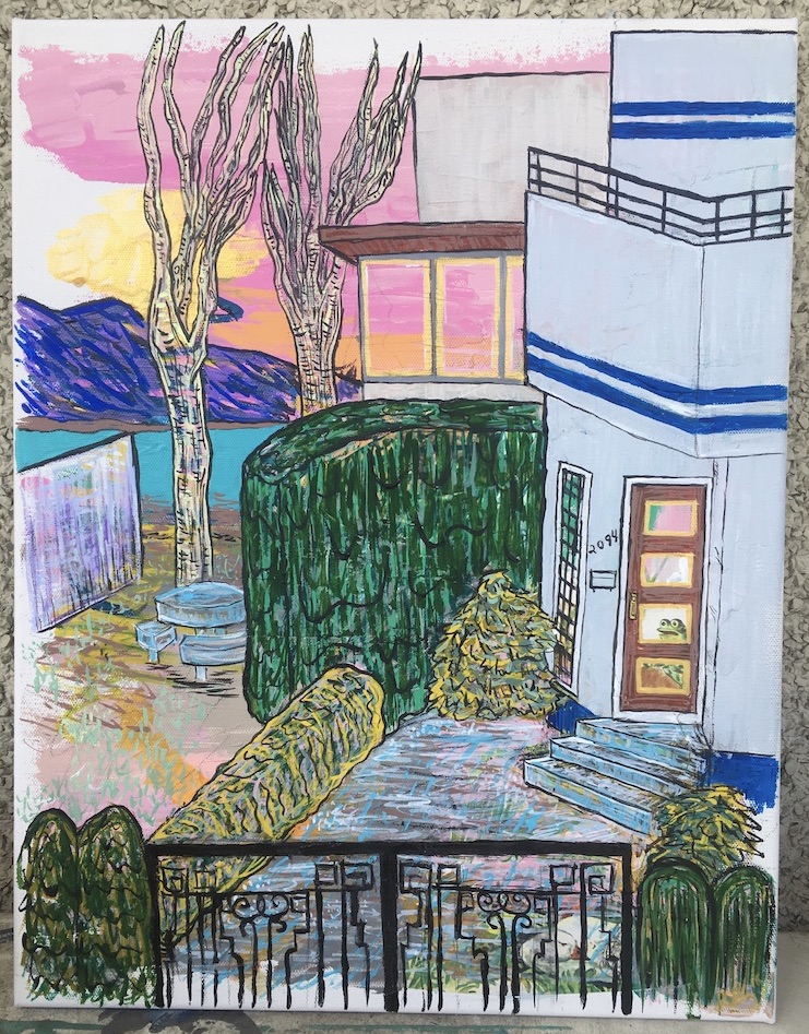 """2094 Abbott Street"" mixed media on 14 x 18 canvas $200"