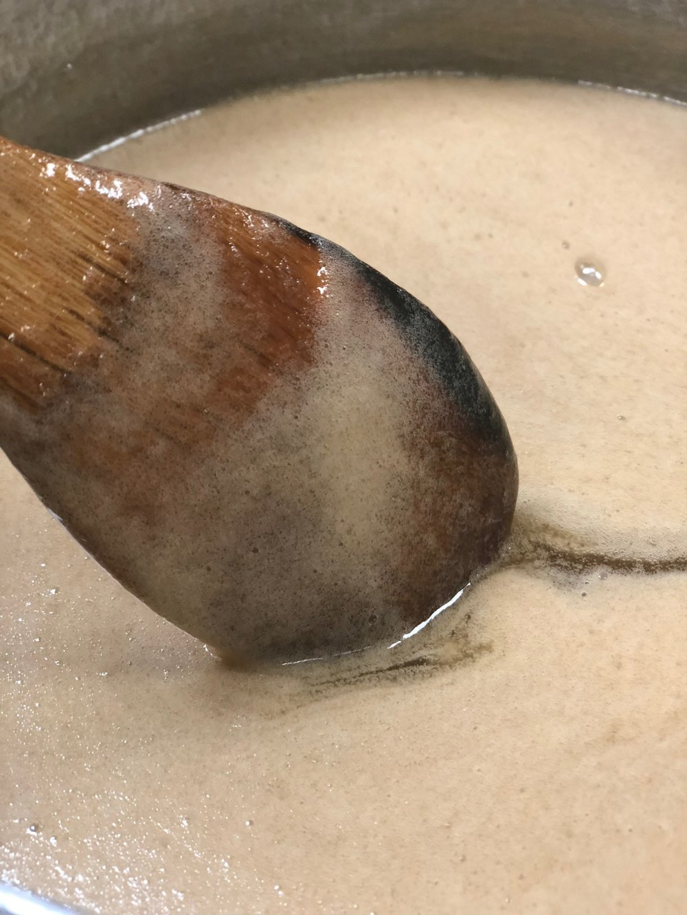 - Bring to a boil until mixture coats the back of a spoon.Remove from heat and add vanilla.
