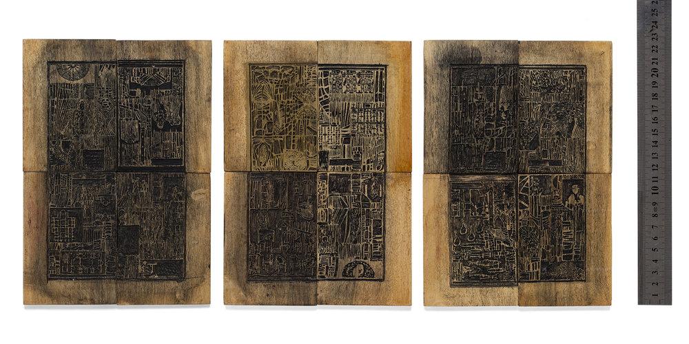 matrizes xilogravura em madeira pau marfim