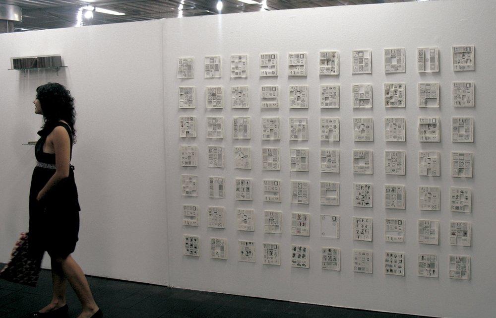 Primeiro dia de circulação, 36ºSalão de Arte Contemporânea Luiz Sacilotto, Santo André 3.000 selos fictícios em tipografia e carimbo, 2007
