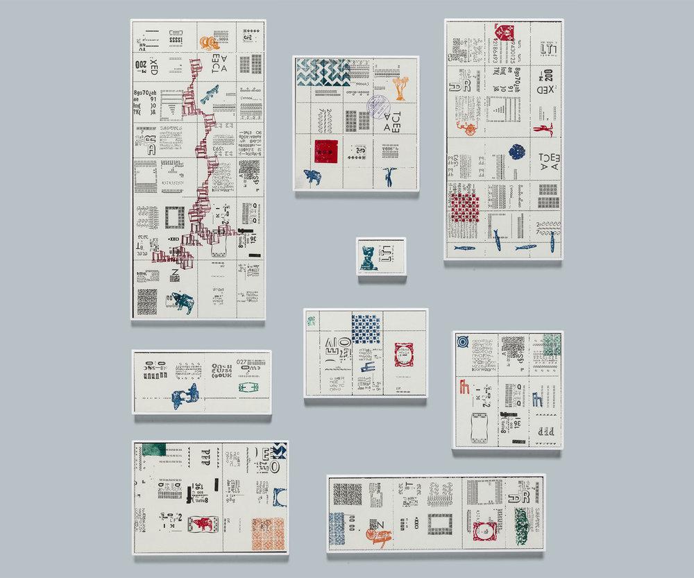 selos tipográficos [tipografia e carimbo]