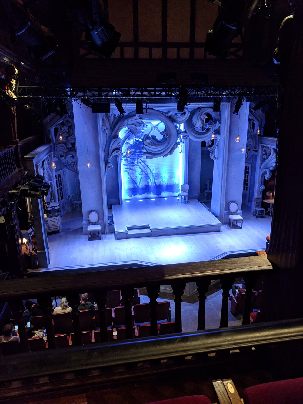 Photo of the stage at the Folger
