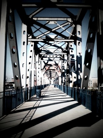 A Footbridge Across the Arkansas River