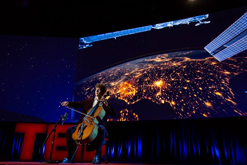 Performing Bach on the TED Mainstage in 2015