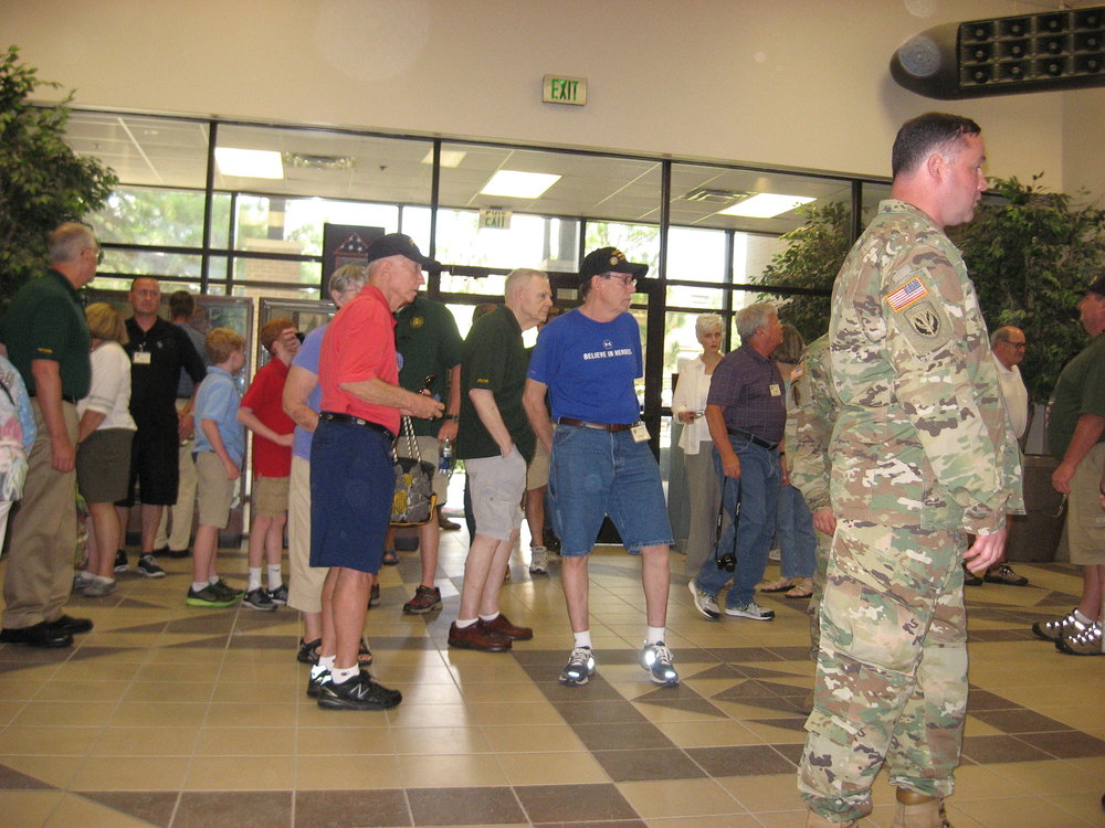 Vets and COL Curris in Lobby