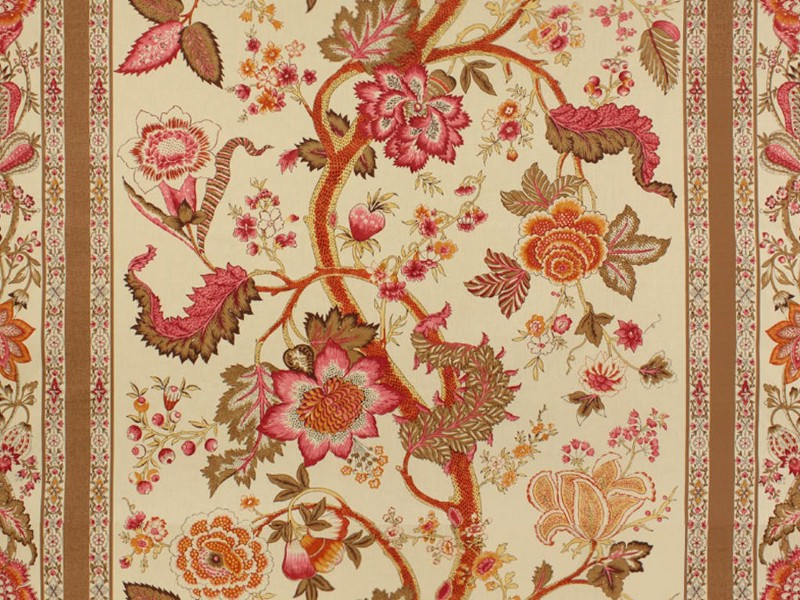 "Brunschwig's ""Bellary"" Cotton Print"