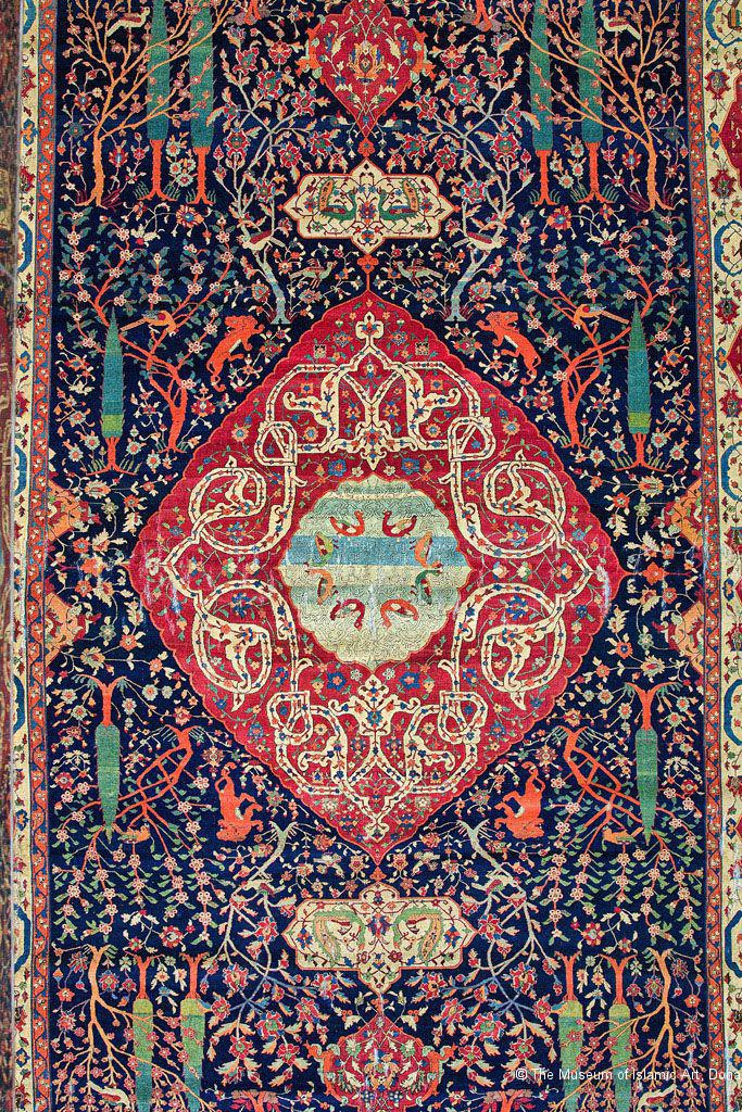 The Schwarzenberg Paradise Park Carpet, 16th Century Iran, from   The Museum of Islamic Art
