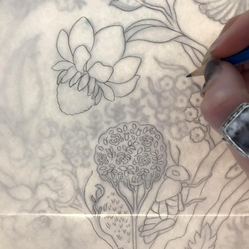 Detail of the transferring process.