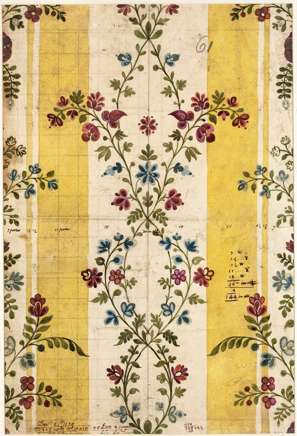 Another work by a famous Spitalfields designer, James Leman.1720.