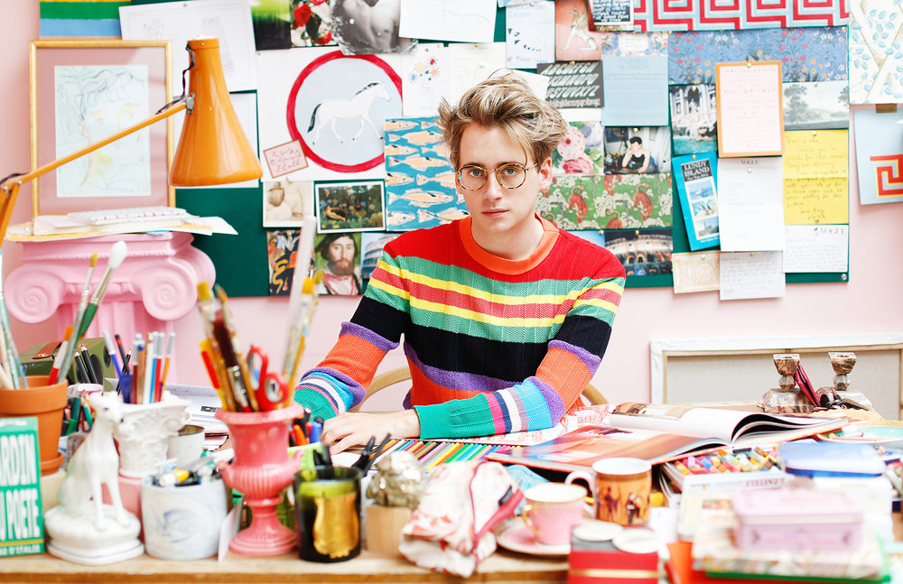 Luke Edward Hall in his Camden Studio