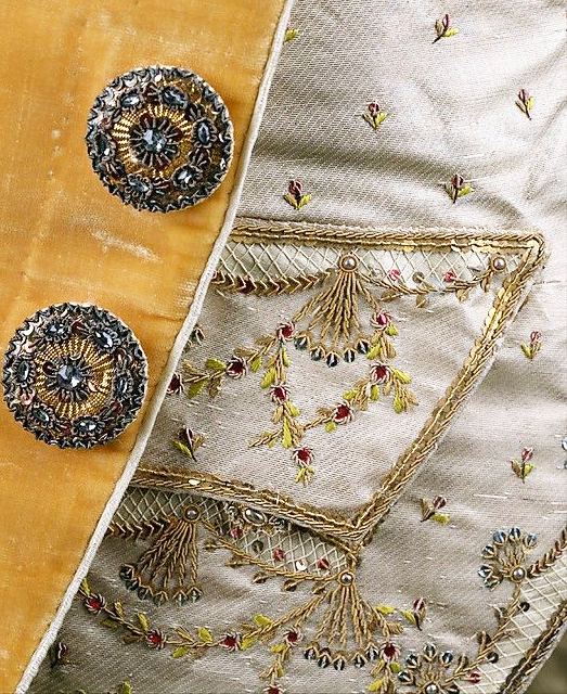 A pocket detail.  French, 1765.  Collection of the Metropolitan Museum of Art.