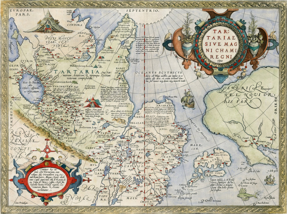 Map of Tartaria , Abraham Ortelius, 1570.