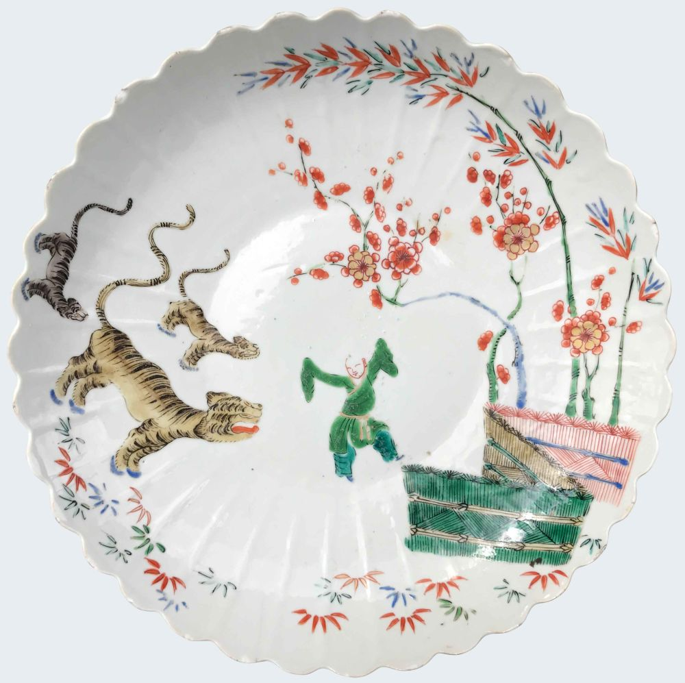 A  wucai  piece from the collection of Galerie Nicolas Fourney.