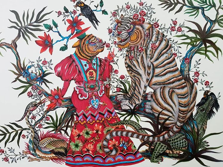 Just one of the numerous fantastically intricate marker illustrations by artist Phanna Past