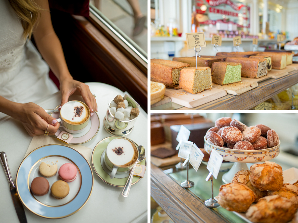 A collection of images from Gal Meets Glam's trip to Ladurée in Paris.